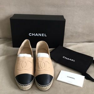 Chanel colorblock Espadrille size 39 NWT